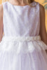 Infant Girls Pink Lace Heart Open Back Dress w. Mesh Overlay KD484