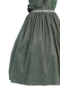 Girls Plus Size Green Metallic Lurex Dress with Ruffled Wrap Bodice KD504