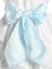 LIGHT BLUE - BL90P POLY SILK SASH & FLOWER PIN