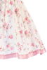 Off White & Pink Floral Print Cotton Girls Dress w. Lace Trim  M734