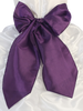 PURPLE - BL90P POLY SILK SASH & FLOWER PIN