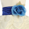 ROYAL BLUE - BL90P POLY SILK SASH & FLOWER PIN