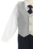 Silver & Black 4-pc Boys Vest & Pants Dresswear Set  G823