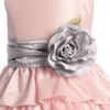 SILVER - BL90P POLY SILK SASH & FLOWER PIN