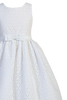 White Cotton Eyelet Girls Communion Dress w. Embroidered Flowers  SP120