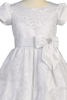 Floral Corded Lace Applique Tulle Girls Plus Size First Communion Dress SP148