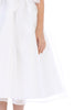 Corded & Sequined Mesh Bodice Girls Communion Dress w. Organza Skirt  SP155