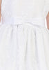 Girls Embroidered Tulle Communion Dress w. Satin Bow  SP157