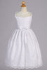 Girls Embroidered Tulle Lace Communion Dress with Satin Bow SP157