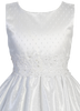 Polka-Dot Tulle Girls Communion Dress w. Lace Trim  SP159