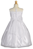Satin & Tulle Girls Communion Dress w. Floral Cord Embroidery SP160
