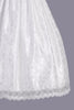 Girls Floral Lace Communion Dress w. Silver Corded Trim Waist SP161