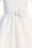 Embroidered Tulle w Illusion Neckline Girls Communion Dress sp169_plus