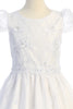 Floral Embroidered Organza Girls First Holy Communion Dress SP171