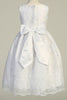 Floral Embroidered Tulle Girls First Holy Communion Dress sp175