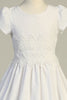 Cotton Eyelet with Lace Girls First Holy Communion Dress sp179