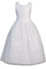Girls Plus Size Sequined Tulle First Communion Dress w. Satin Trim  SP615
