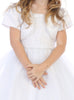 Spaghetti Strap Girls Communion Dress w. Tulle Skirt & Bolero  SP641
