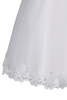 Floral Embroidered Tulle Girls Communion Dress w. Flowers SP646