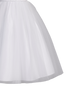 Beaded Ruched Tulle Girls Communion Dress with V-Back SP647