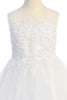 Beaded Tulle & 3 Layer Skirting Girls First Holy Communion Dress sp706
