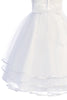 Girls Beaded Tulle Communion Dress w. 3 Tier Layered Skirt SP706