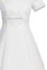 Satin & Lace A-Line Girls First Holy Communion Dress w. Princess Seams  SP713
