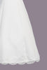 Satin & Lace Trim A-Line Girls Communion Dress with Princess Seams SP713