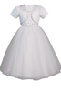 Beaded Girls Communion Dress w. Tulle Ballerina Skirt & Bolero SP927