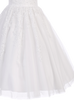 Girls Plus Size Tulle Communion Dress w. Beaded Appliques SP977