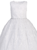 Rhinestone Trimmed Girls Embroidered Tulle Communion Dress SP993
