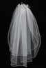 Rhinestone Flower Girls Communion Comb Veil w. Pearls & Crystals T300