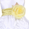 YELLOW - BL90P POLY SILK SASH & FLOWER PIN