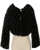 Black Fur Cropped Length Girls Occasion Jacket (330)