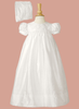 Silk Dupioni & Lattice Work Handmade Christening Dress (DP04GS)