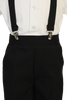 Black Suspender Pants & Dress Shirt 5 Pc Easter Spring Outfit (Baby 6 months to Boys Size 7)