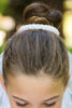 Pearl Accented Girls Communion Bun Veil BS003