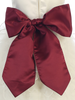 BURGUNDY - BL90P POLY SILK SASH & FLOWER PIN