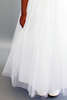 Satin, Tulle & Lace First Holy Communion Gown in White or Ivory (Girls Sizes 4 to 16)