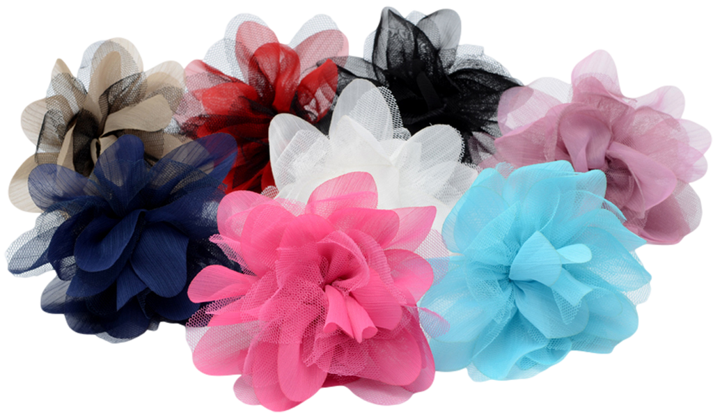 Flower pins with layered mesh and organza flower petals rachels mesh organza flower petal pin fl003 mightylinksfo