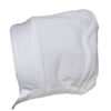 Baby Boys 100% White Cotton Knit Hat w. Satin Ribbon Trim  CKNITH