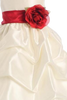 Ivory Shantung Flower Girls Dress with Pick up Skirt (BL212)