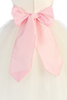 BACK OF IVORY DRESS with PINK SASH (BL228)