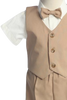 Khaki Tan Vest & Shorts 5 Pc Easter Spring Outfit Baby & Toddler Boys (G815)