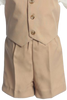 Boys Khaki Tan Vest & Shorts Dresswear Set with Cap G815
