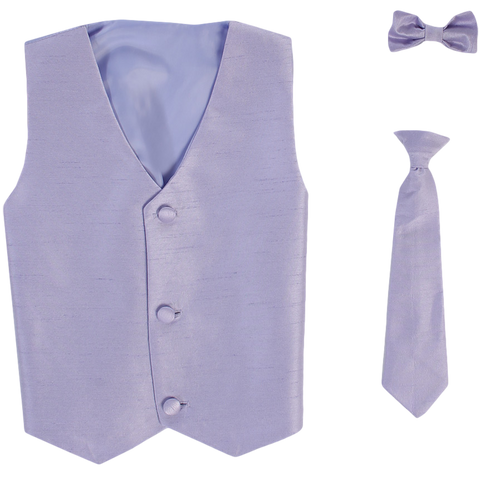 Lilac Vest & Tie Set Poly Silk with Tie Choice Boys (735)