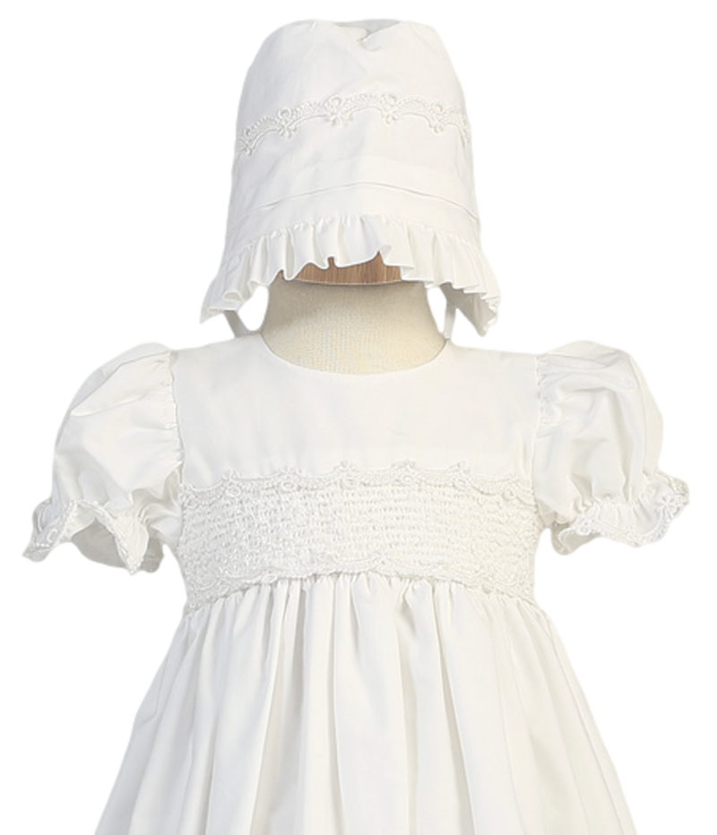 Traditional Style Smocked Christening Gown Baby Girls – Rachel\'s Promise