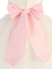 PINK - BL90P POLY SILK SASH & FLOWER PIN