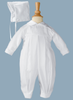 Embroidered Shamrocks Handmade Christening Coverall (GBSH51)