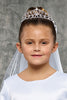 Girls Intertwining Rhinestone Scroll Tiara Crown Communion Veil
